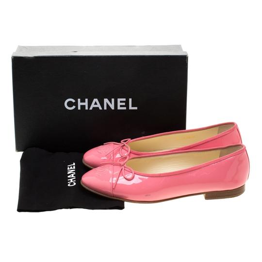 Chanel Patent Leather Ballet Leather Pink Flats Image 6