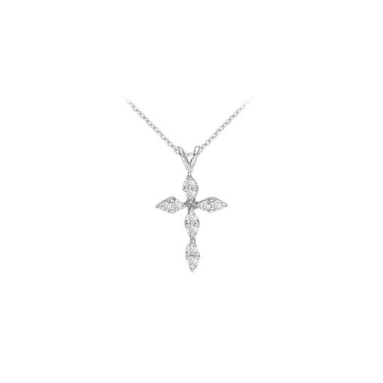 Preload https://img-static.tradesy.com/item/25999322/white-april-birthstone-diamonds-cross-pendant-in-14k-gold-necklace-0-0-540-540.jpg