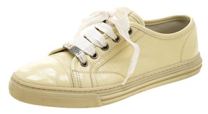 Gucci Patent Leather Lace Rubber Yellow Athletic