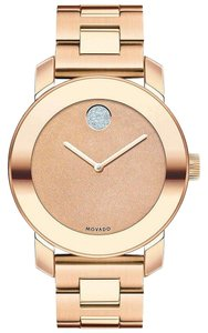 Movado Bold Stainless Steel Glitter Dial 3600335 Watch