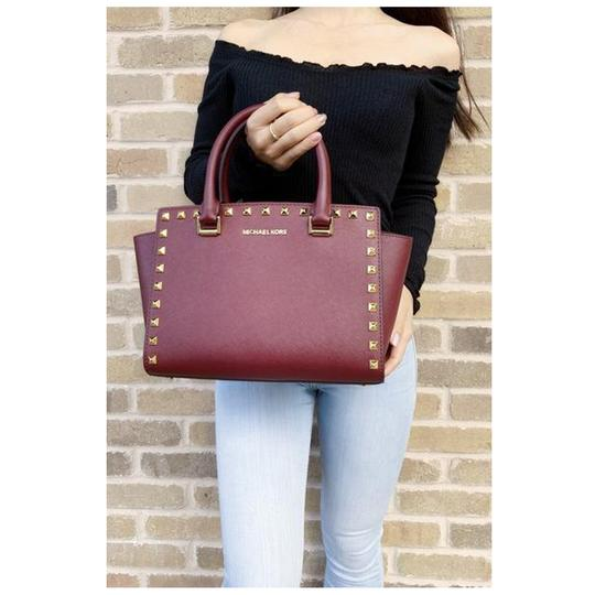 Michael Kors Womens Studded Leather Satchel Image 4