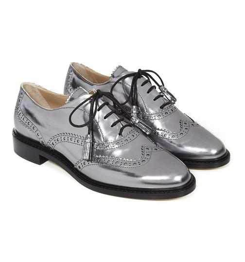 Hobbs London Brogues Loafer Silver Formal Image 1