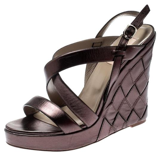 Preload https://img-static.tradesy.com/item/25999527/valentino-metallic-grey-leather-cross-strap-wedge-sandals-size-eu-395-approx-us-95-regular-m-b-0-1-540-540.jpg
