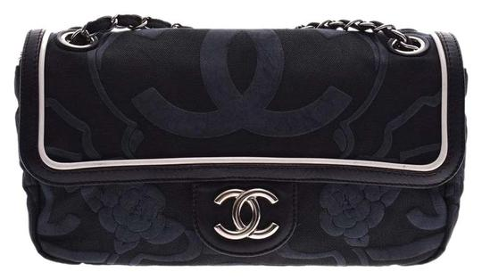 Preload https://item5.tradesy.com/images/chanel-box-camellia-sv-metal-fittings-women-s-calf-gala-silver-warehouse-black-canvas-shoulder-bag-25999529-0-3.jpg?width=440&height=440