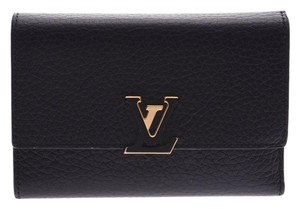 Louis Vuitton Louis Vuitton Portofeuille Capsine Compact Black / Hot Pink M62157 Ladies Triyon Wallet LOUIS VUITTON