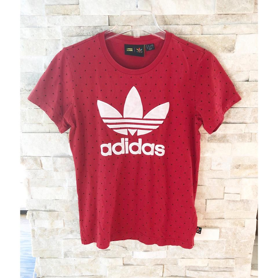 photos officielles c1346 87097 adidas Red/Black Pharrell Williams All Over Printed T-shirt Tee Shirt Size  2 (XS)