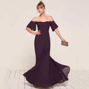 Reformation Purple Florentina Feminine Bridesmaid/Mob Dress Size 4 (S)