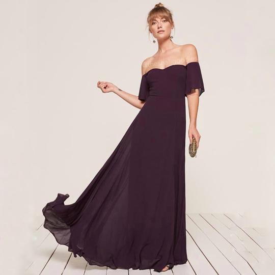 Reformation Purple Florentina Feminine Bridesmaid/Mob Dress Size 4 (S) Image 1