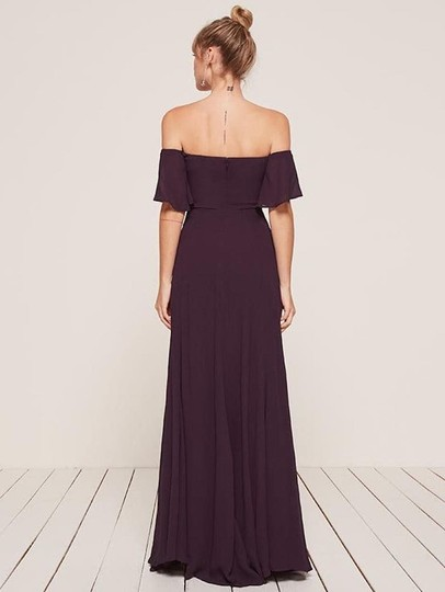 Reformation Purple Florentina Feminine Bridesmaid/Mob Dress Size 4 (S) Image 3