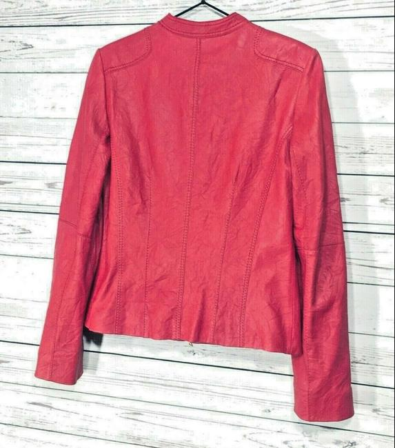 Anne Klein Red Leather Jacket Image 5