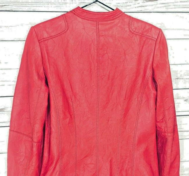 Anne Klein Red Leather Jacket Image 6