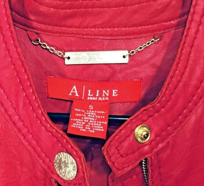 Anne Klein Red Leather Jacket Image 7