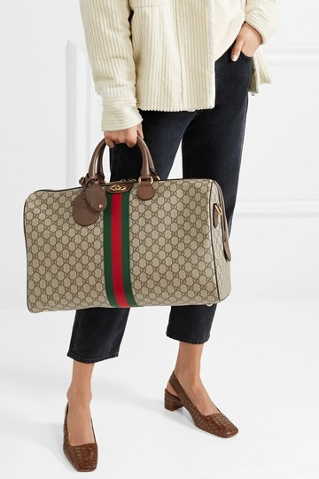 Gucci Gg Supreme Gg Ophidia Ophidia Gg Medium Gg Duffle Beige Travel Bag Image 2