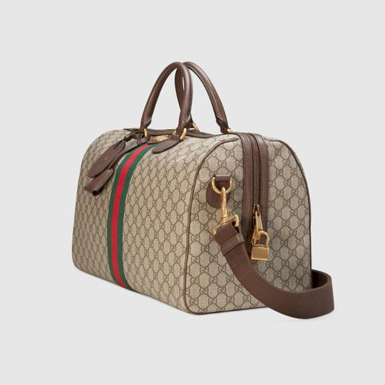 Gucci Gg Supreme Gg Ophidia Ophidia Gg Medium Gg Duffle Beige Travel Bag Image 4