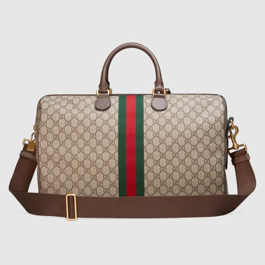 Gucci Gg Supreme Gg Ophidia Ophidia Gg Medium Gg Duffle Beige Travel Bag Image 5