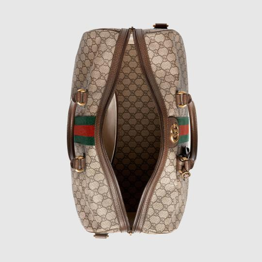 Gucci Gg Supreme Gg Ophidia Ophidia Gg Medium Gg Duffle Beige Travel Bag Image 6