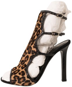 Tamara Mellon Black Leopard Sandals