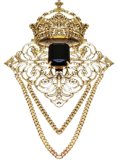 Preload https://img-static.tradesy.com/item/25999754/black-acrylic-stone-crown-crest-brooch-pin-0-1-540-540.jpg