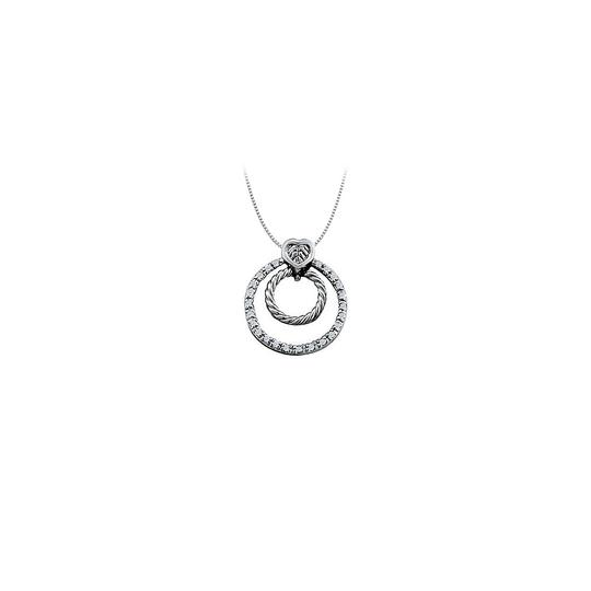 Preload https://img-static.tradesy.com/item/25999824/white-diamond-double-circle-pendant-in-14k-gold-033-ct-tdwjewelry-necklace-0-0-540-540.jpg