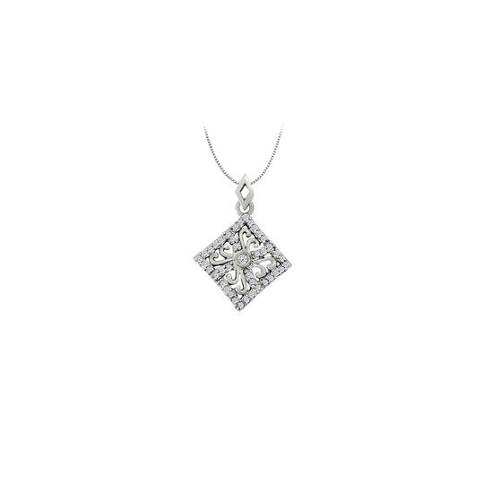 Preload https://img-static.tradesy.com/item/25999961/white-diamond-square-shaped-pendant-in-14k-goldperfect-gift-necklace-0-0-540-540.jpg