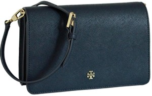 Tory Burch Gold Chain Strap Saffiano Leather Classy Perfect Size Must Have Cross Body Bag