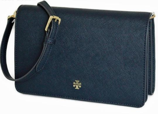 Tory Burch Gold Chain Strap Saffiano Leather Classy Perfect Size Must Have Cross Body Bag Image 1