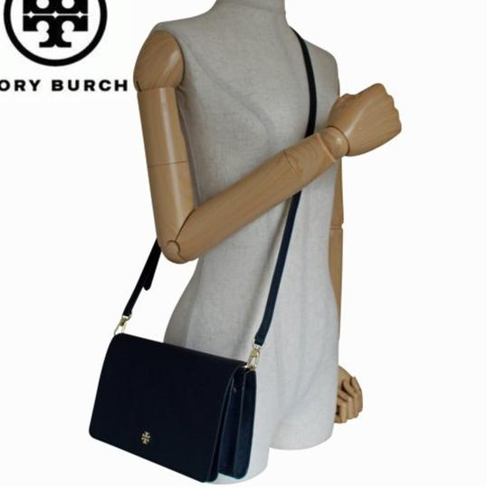 Tory Burch Gold Chain Strap Saffiano Leather Classy Perfect Size Must Have Cross Body Bag Image 10