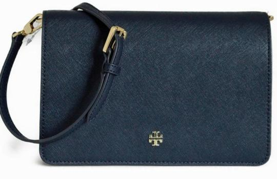 Tory Burch Gold Chain Strap Saffiano Leather Classy Perfect Size Must Have Cross Body Bag Image 2