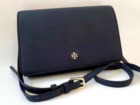 Tory Burch Gold Chain Strap Saffiano Leather Classy Perfect Size Must Have Cross Body Bag Image 3
