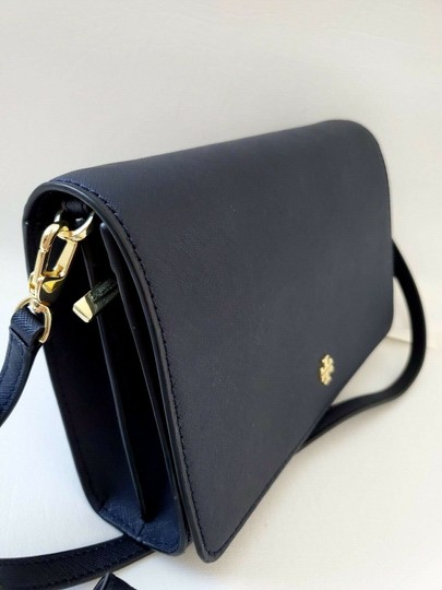 Tory Burch Gold Chain Strap Saffiano Leather Classy Perfect Size Must Have Cross Body Bag Image 4