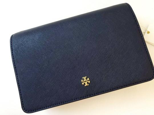 Tory Burch Gold Chain Strap Saffiano Leather Classy Perfect Size Must Have Cross Body Bag Image 6
