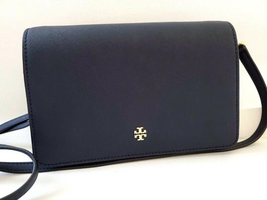 Tory Burch Gold Chain Strap Saffiano Leather Classy Perfect Size Must Have Cross Body Bag Image 9