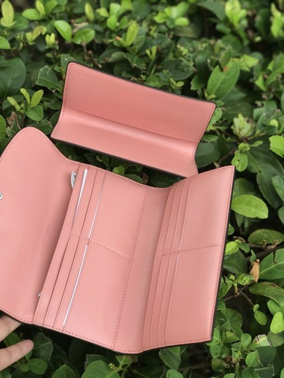Coach Coach PVC and Leather Checkbook Wallet In Light Khaki Blush Image 4
