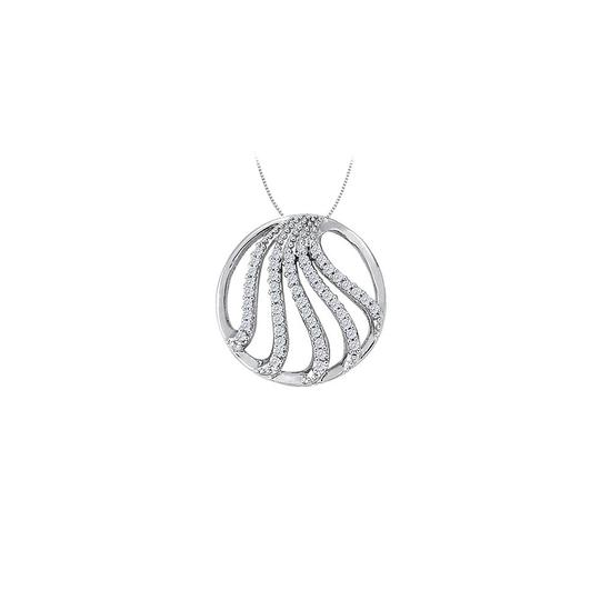 Preload https://img-static.tradesy.com/item/26000142/white-diamond-fancy-circle-fashion-pendant-in-14k-gold-050-ct-tdw-necklace-0-0-540-540.jpg