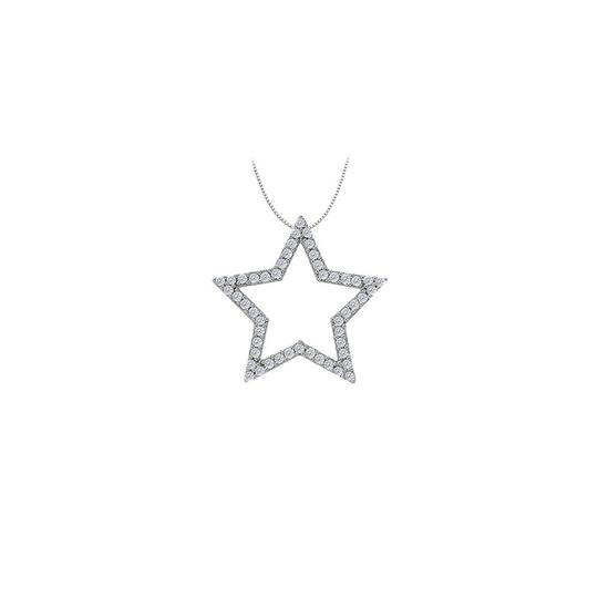 Preload https://img-static.tradesy.com/item/26000147/white-diamond-star-pendant-in-14k-gold-050-ct-tdwperfect-gift-necklace-0-0-540-540.jpg