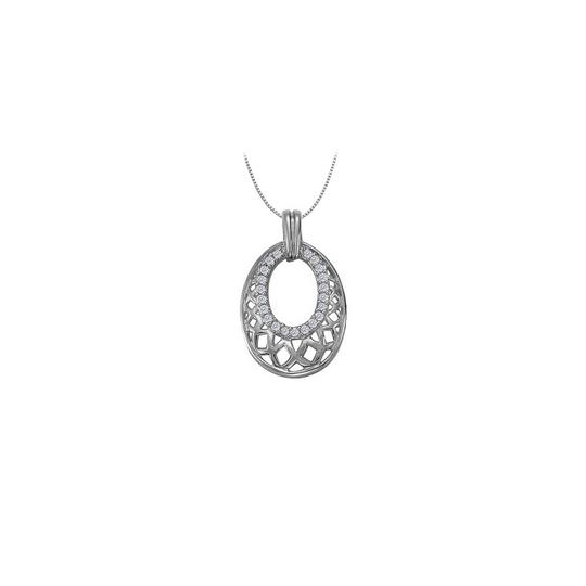 Preload https://img-static.tradesy.com/item/26000156/white-diamond-fancy-oval-fashion-pendant-in-14k-gold-025-ct-tdw-necklace-0-0-540-540.jpg