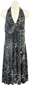London Times short dress Black/White Halter Empire Waist Fit And Flare on Tradesy