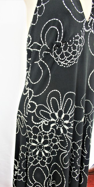 London Times short dress Black/White Halter Empire Waist Fit And Flare on Tradesy Image 4