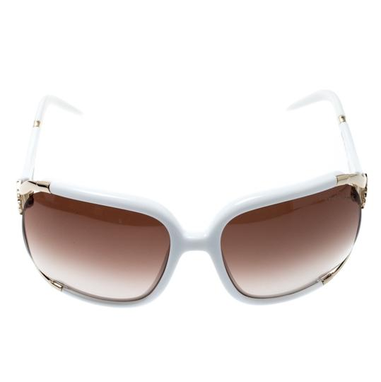 Roberto Cavalli White/ Brown Gradient Talisia 370S Oversized Sunglasses Image 1