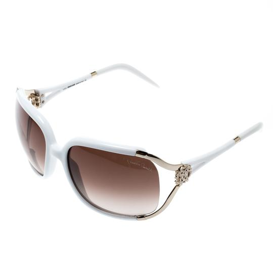 Roberto Cavalli White/ Brown Gradient Talisia 370S Oversized Sunglasses Image 2