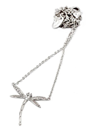 Ocean Fashion Sterling silver dragonfly pendant necklace Image 1