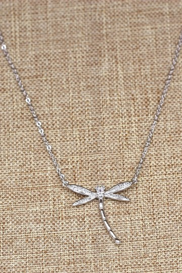 Ocean Fashion Sterling silver dragonfly pendant necklace Image 4