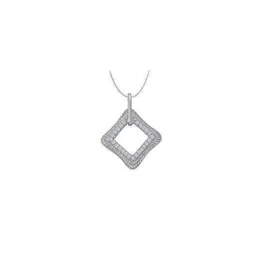 Preload https://img-static.tradesy.com/item/26000324/white-diamond-square-shaped-pendant-in-14k-gold-025-ct-tdwperfect-necklace-0-0-540-540.jpg