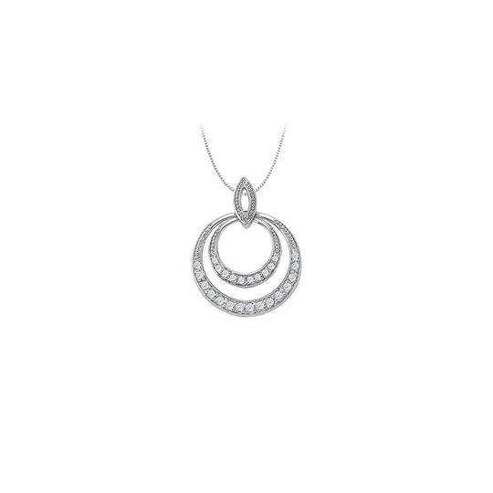 Preload https://img-static.tradesy.com/item/26000352/white-diamond-double-circle-pendant-in-14k-gold-050-ct-tdwjewelry-necklace-0-0-540-540.jpg