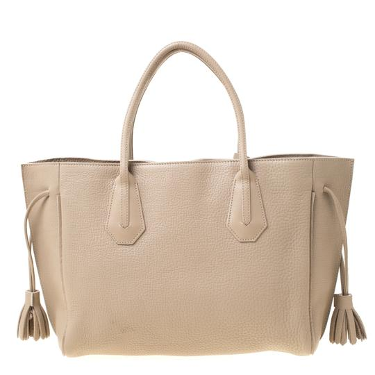 Longchamp Leather Tote in Beige Image 1