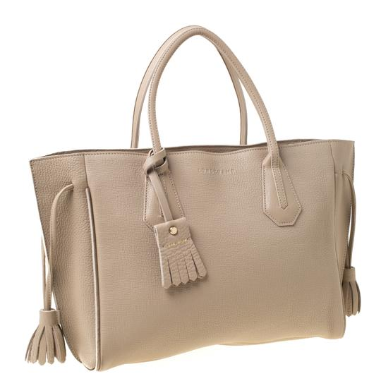Longchamp Leather Tote in Beige Image 3