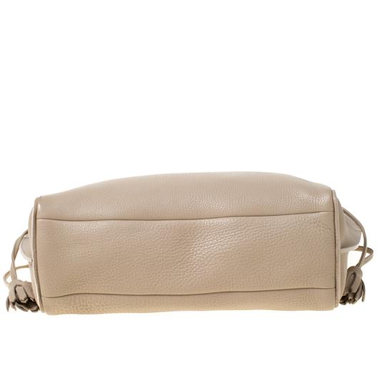 Longchamp Leather Tote in Beige Image 4