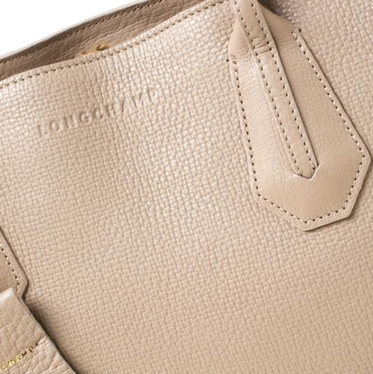 Longchamp Leather Tote in Beige Image 8