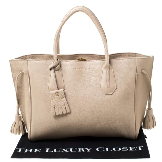 Longchamp Leather Tote in Beige Image 9