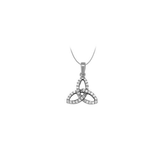 Preload https://img-static.tradesy.com/item/26000374/white-diamond-three-petal-pendant-in-14k-gold-025-ct-tdwjewelry-gift-necklace-0-0-540-540.jpg